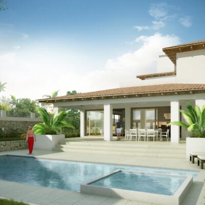 Modern version of a traditional Mediterranean farm house