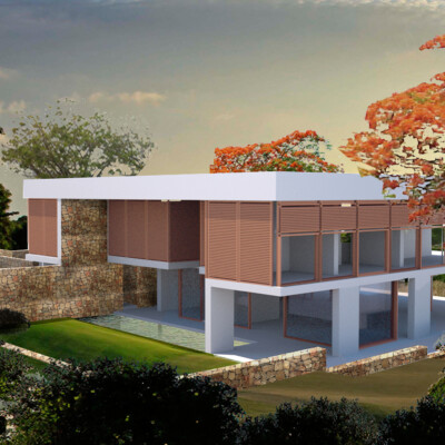 Modern African house, warm and open plan