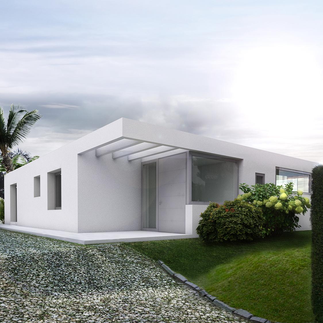Modernes, minilastisches Einfamlienhaus