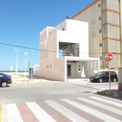 Modern house at the beach in Denia, Alicante, Spain.