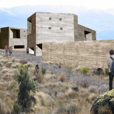 Spiritual architecture with earth construction in Burgohondo.